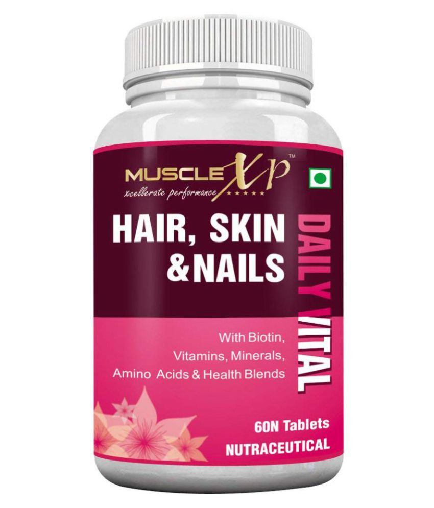MuscleXP Biotin Hair, Skin  amp; Nails With Amino Acids 60 no.s Multivitamins Tablets