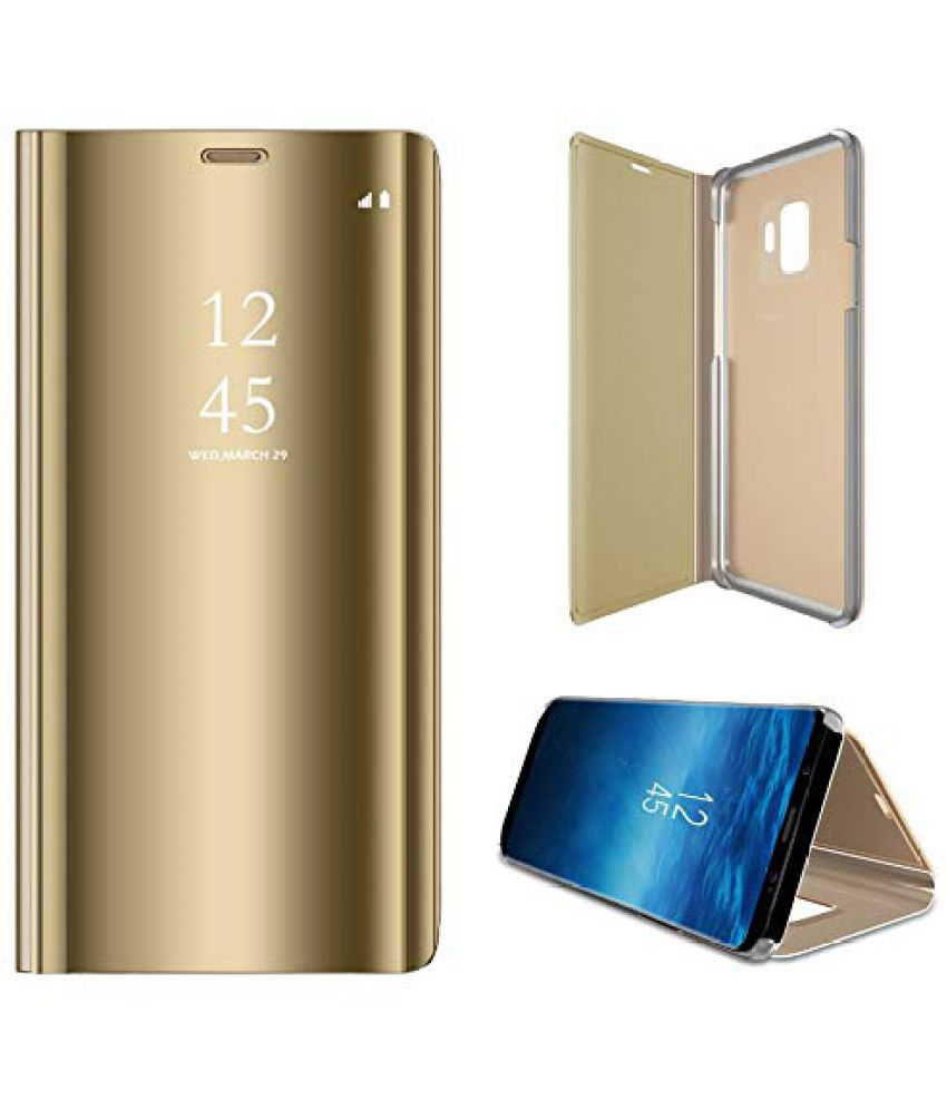 cheap for discount c36c6 7318f Samsung Galaxy Note 9 Flip Cover by JKR - Golden