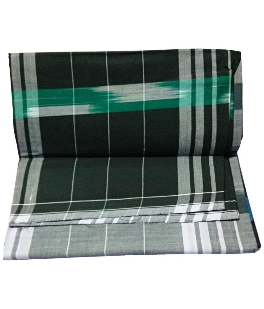 Alif Laila Black Lungi - Buy Alif Laila Black Lungi Online