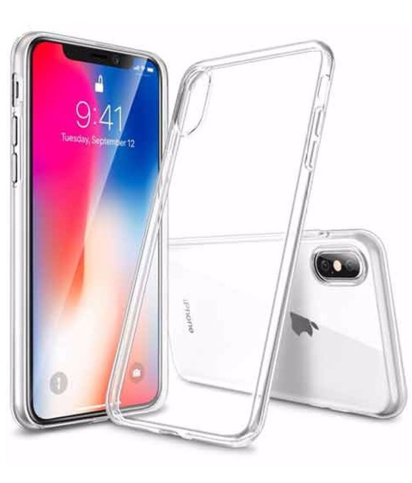 1f6ad3377b3 Apple iPhone XS Max Soft Silicon Cases SpectraDeal - Transparent - Plain Back  Covers Online at Low Prices