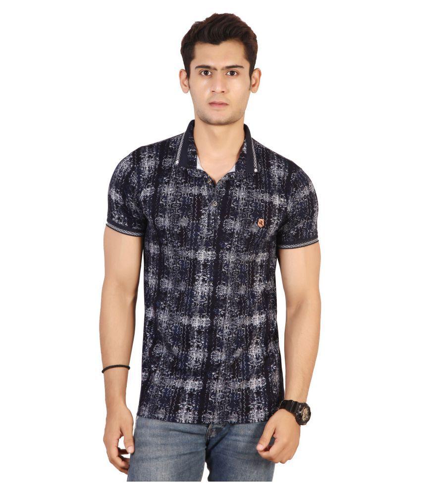 Awack Blue Half Sleeve T-Shirt