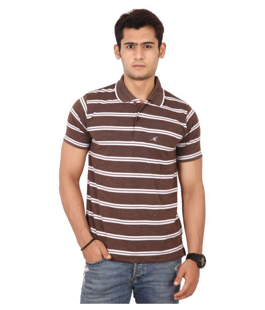 Awack Brown Half Sleeve T-Shirt