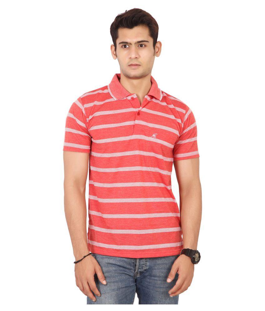 Awack Peach Half Sleeve T-Shirt