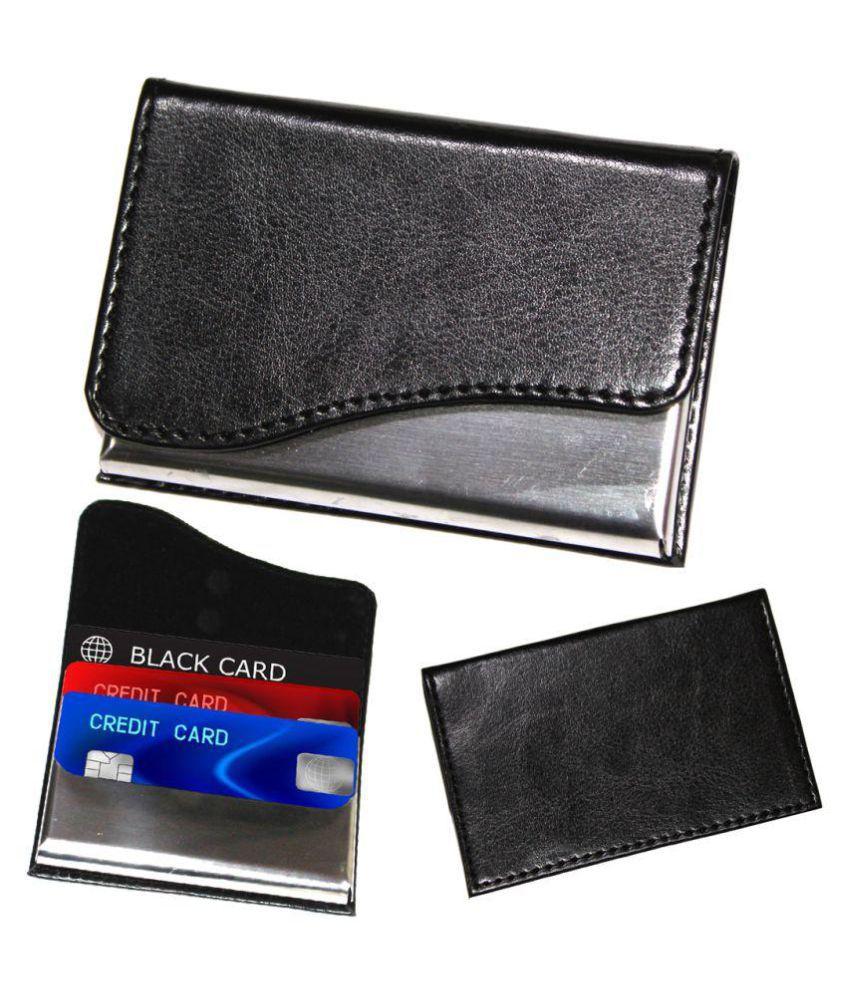 Gizmofreaks Flap Black Card Holder