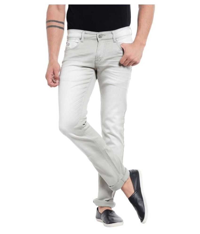 Mayback Off White Relaxed Jeans