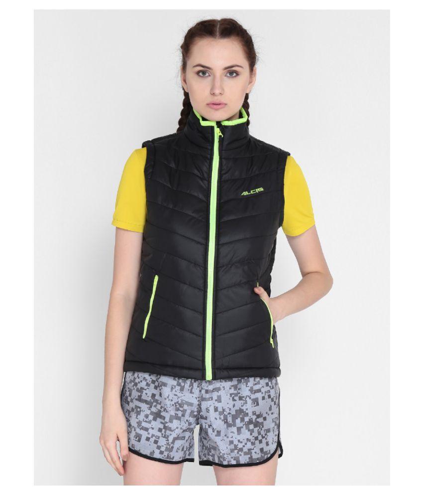 Alcis Women Solid Black Jacket