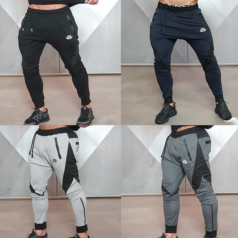 Men's Gym Fitness Outdoor Sport Elastic Long Pants Jogging Jogger