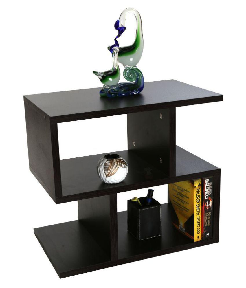 Tv Side Table.Dinora Tv Unit Bed Side Table Engineered Wood Classic Design Color Brown