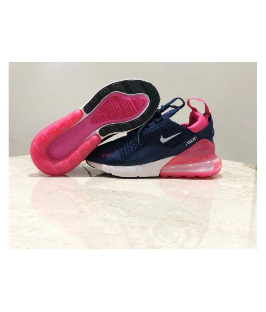 the best attitude 1f14d 64cd5 Nike Air Max 270 Navy Blue Womens Running Shoes