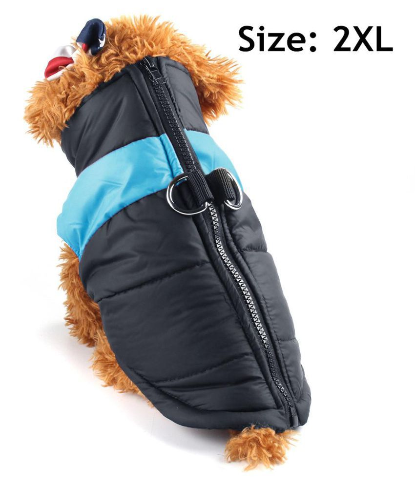 Waterproof Small/Large Pet Dog Clothes Winter Warm Padded Coat Vest Jacket Blue
