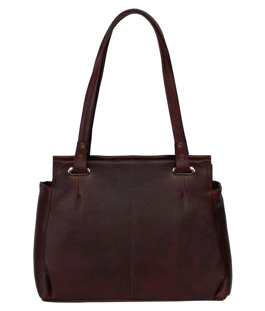 Abeeza Brown Pure Leather Shoulder Bag