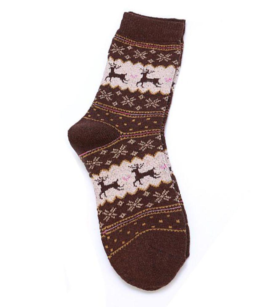 Christmas Deer Socks Women Mens Gifts Cartoon Design Casual Knit Wool Socks Men Winter Warm Shorts Ankle Socks Cute Calcetines