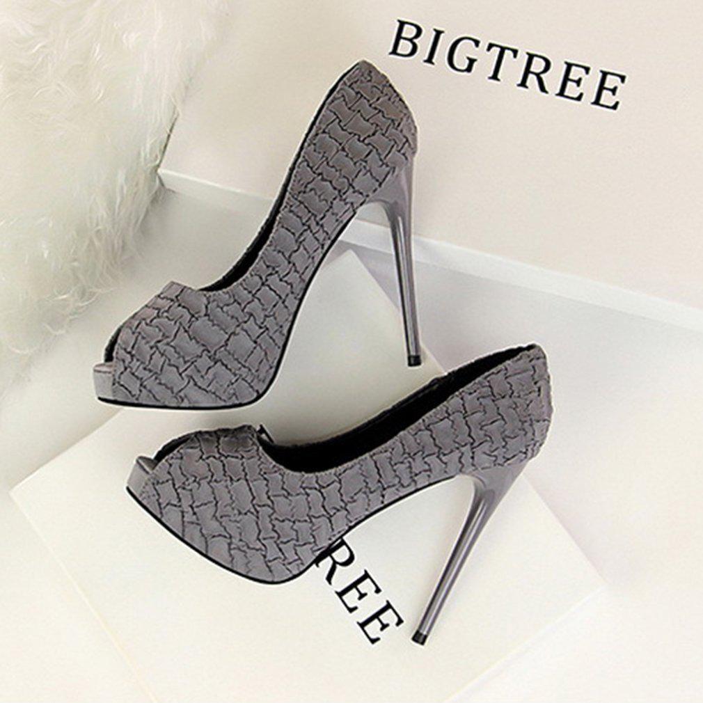 Generic Gray Block Heels