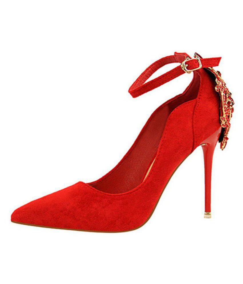 Generic Red Block Heels