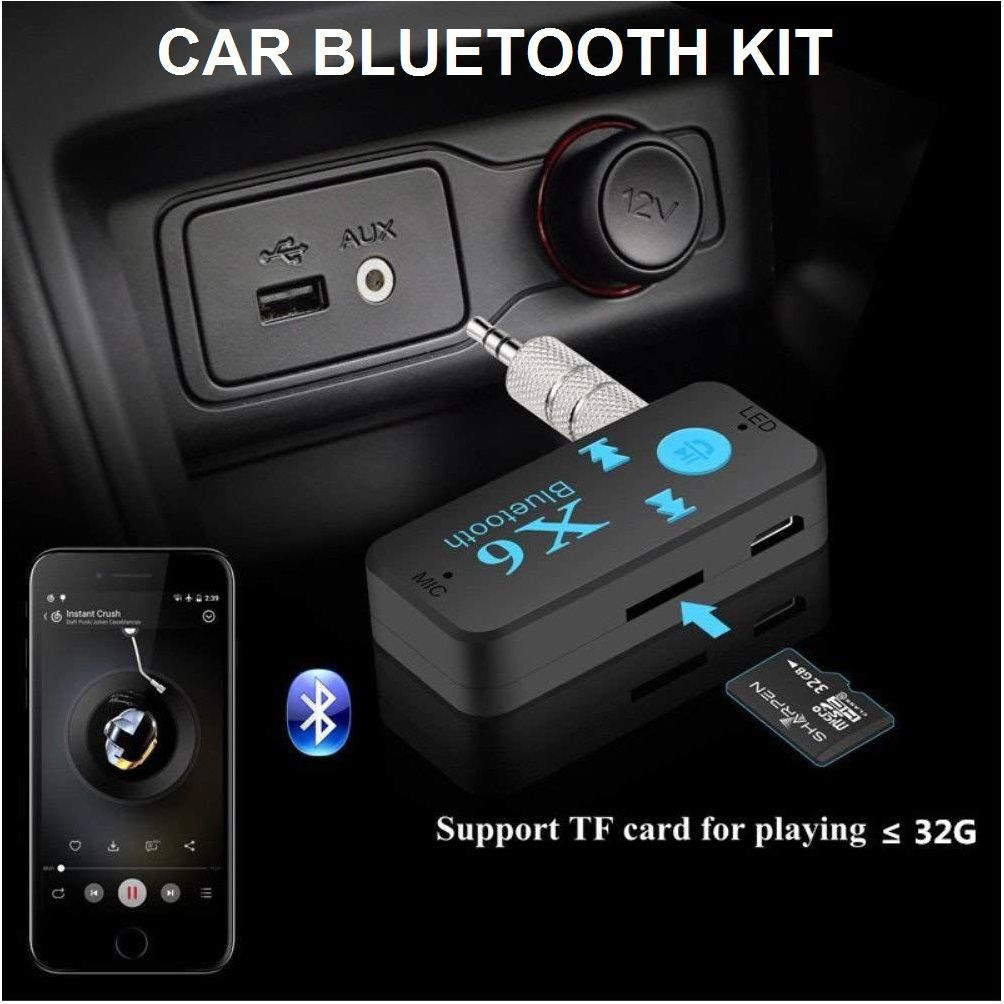 354cc0e791f Car Bluetooth Kit with Micro SD Memory Card Slot, Mic, 3.5 mm Jack, AUX  Connector (Card not included): Buy Car Bluetooth Kit with Micro SD Memory  Card Slot, ...