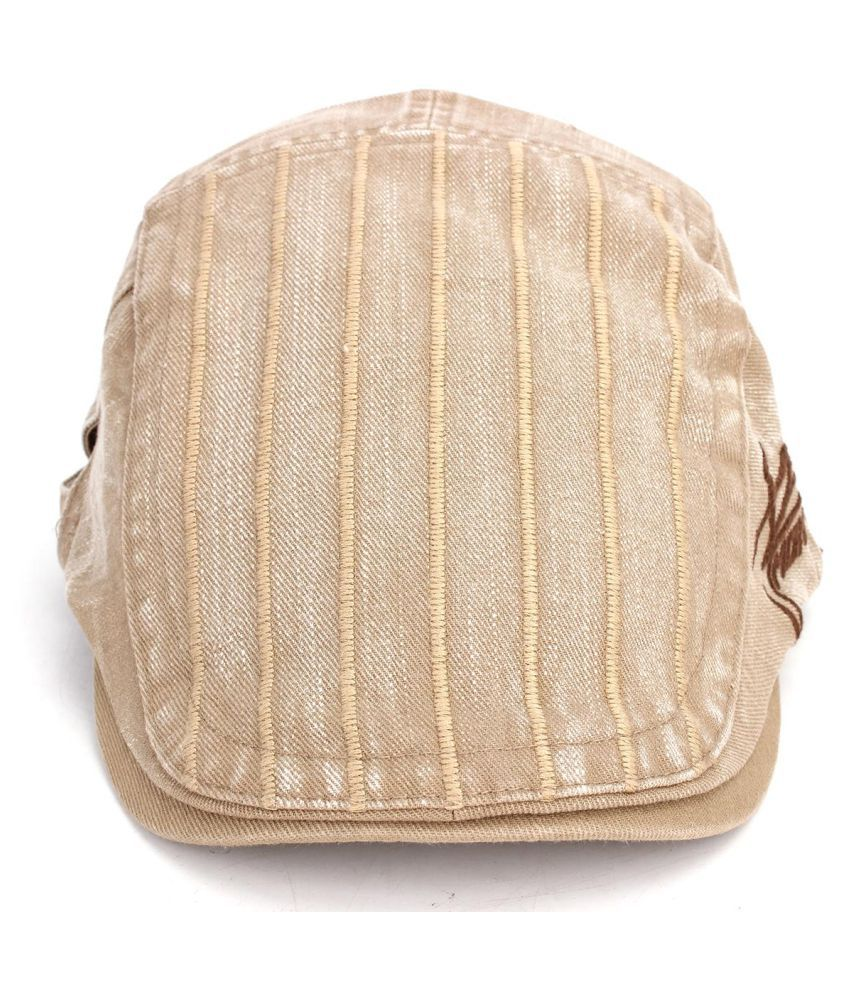 Men Ivy Cap Striped Duckbill Beret Hat 7dd357f94b