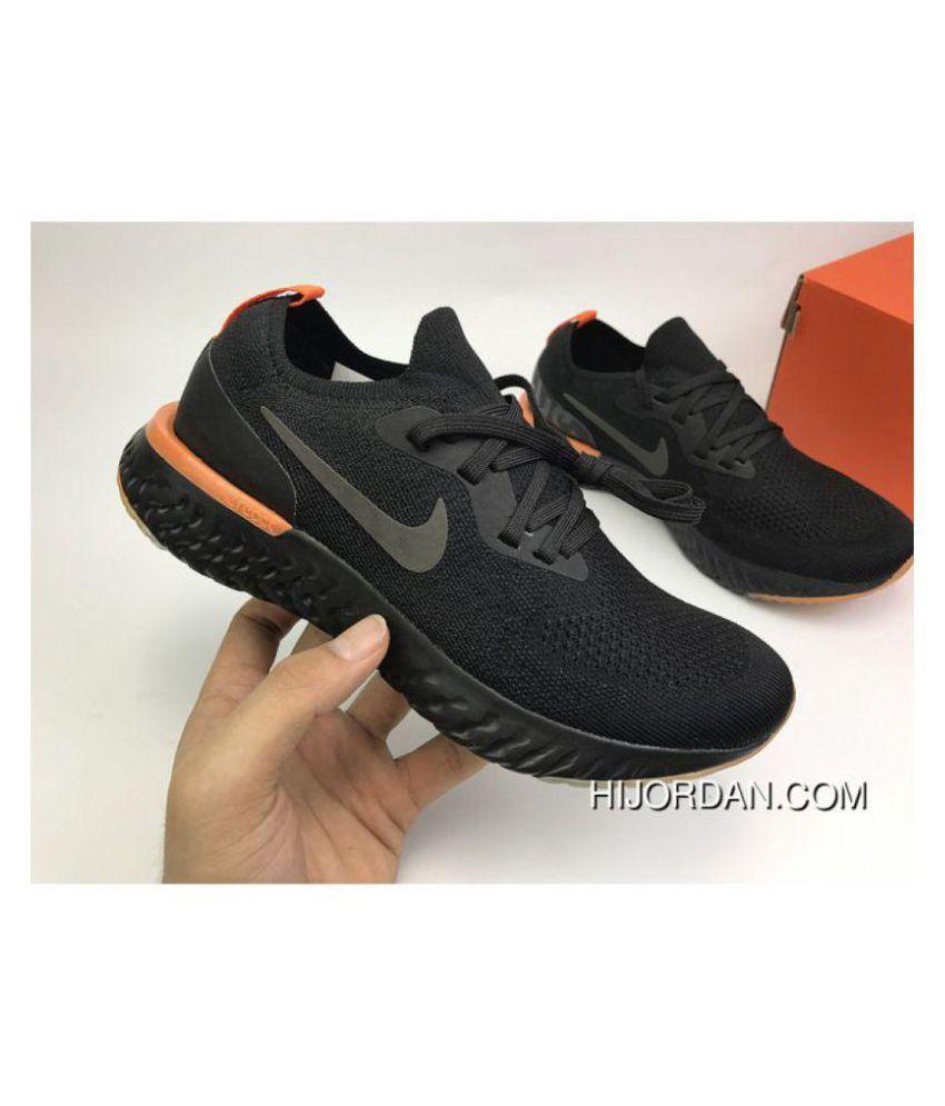 152de7643dd Nike Epic React Flyknit Black Running Shoes
