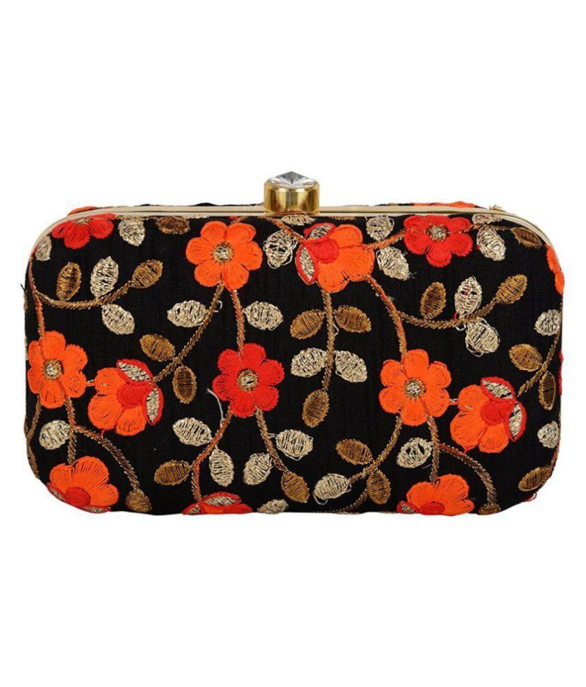 Tooba Handicraft Multi Fabric Box Clutch