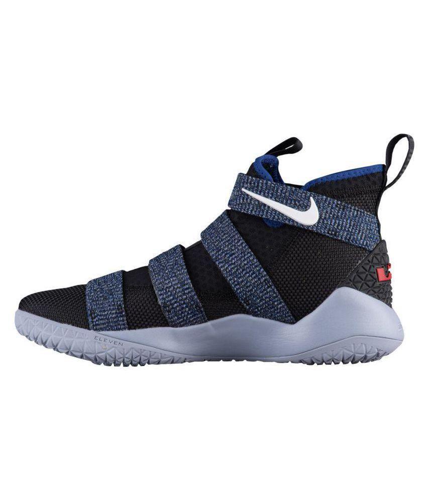 37cfc247761e Nike Lebron X11 Soldier Blue-Jeans Black Basketball Shoes - Buy Nike ...