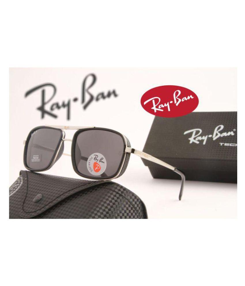 Ray Ban Avaitor Black Square Sunglasses ( 4413 )