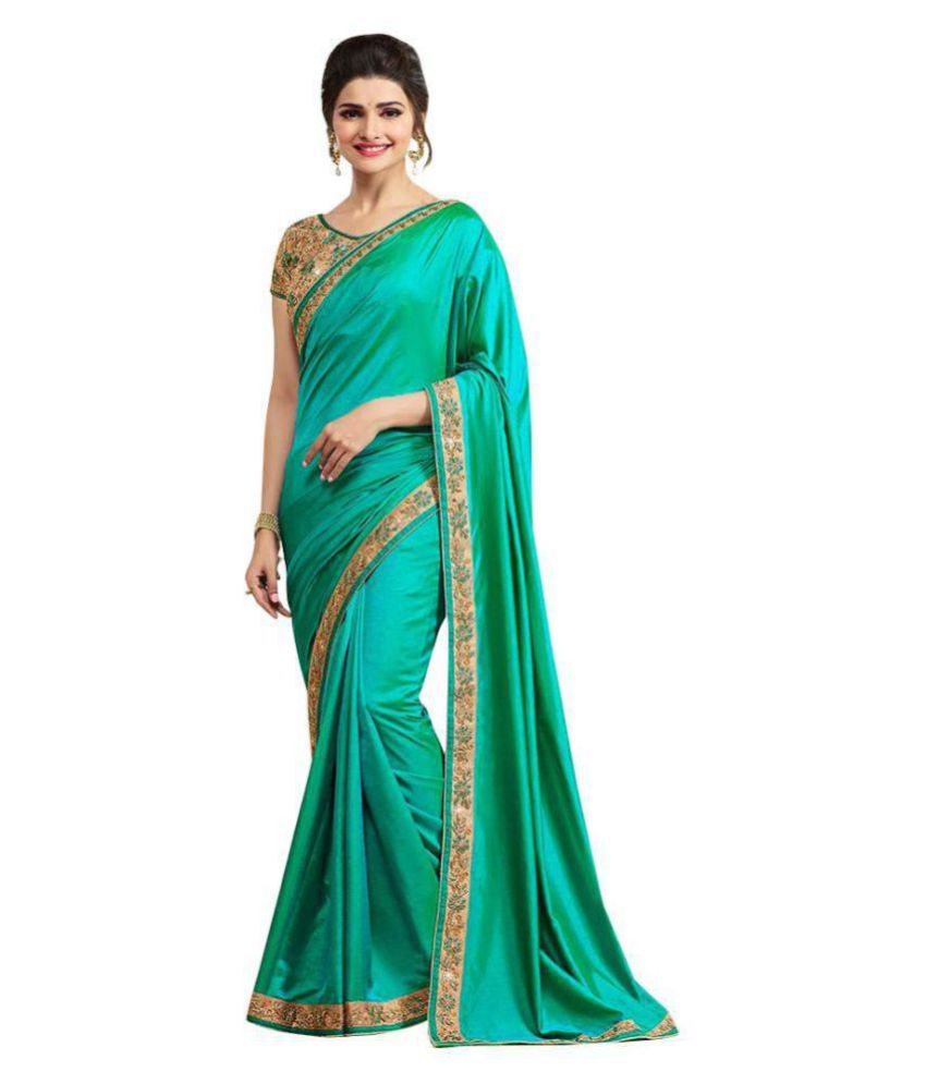 Kanha Fashion Green Silk Saree