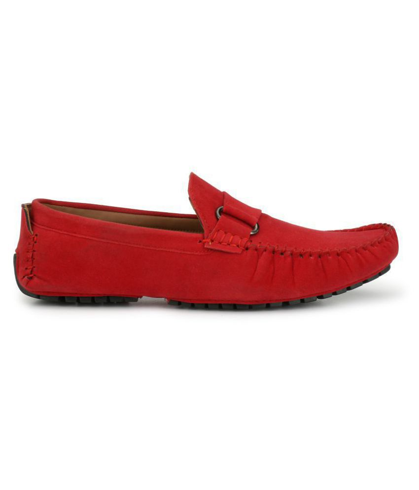 ZebX Red Loafers ZebX Red Loafers ...