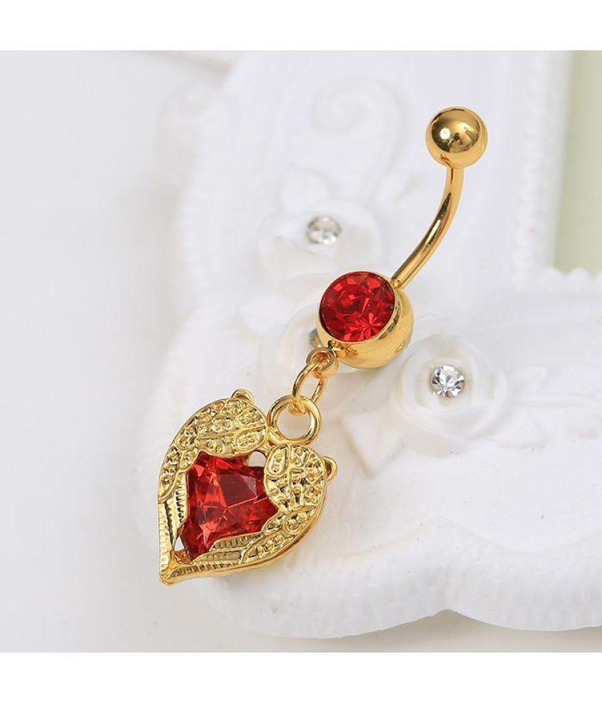 New Women 1Pc Fake Septum Non Piercing Clip On Body Jewelry Clicker Navel  Ring ... 3e162bd52e