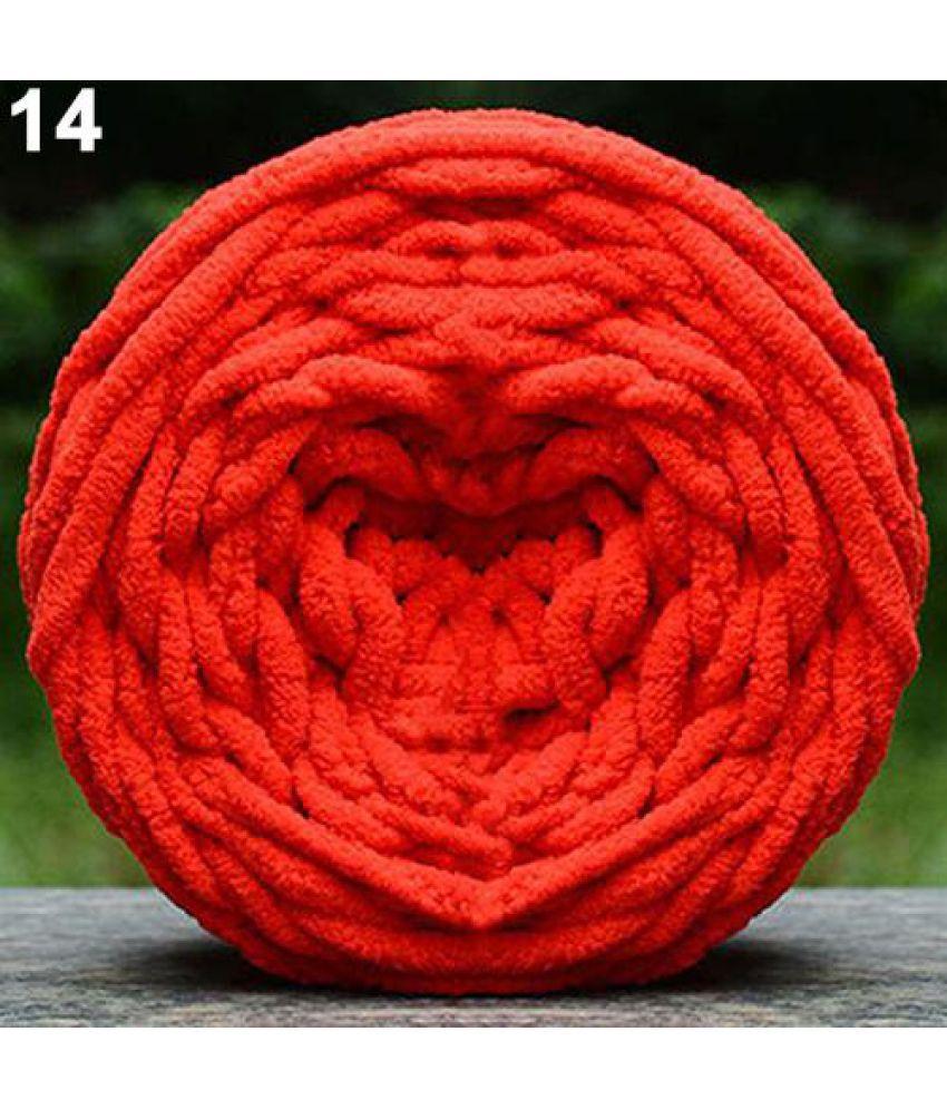 DIY Scarf Sweater Towel Soft Thick Yarn Knitting Chunky Towelling Yarn Ball