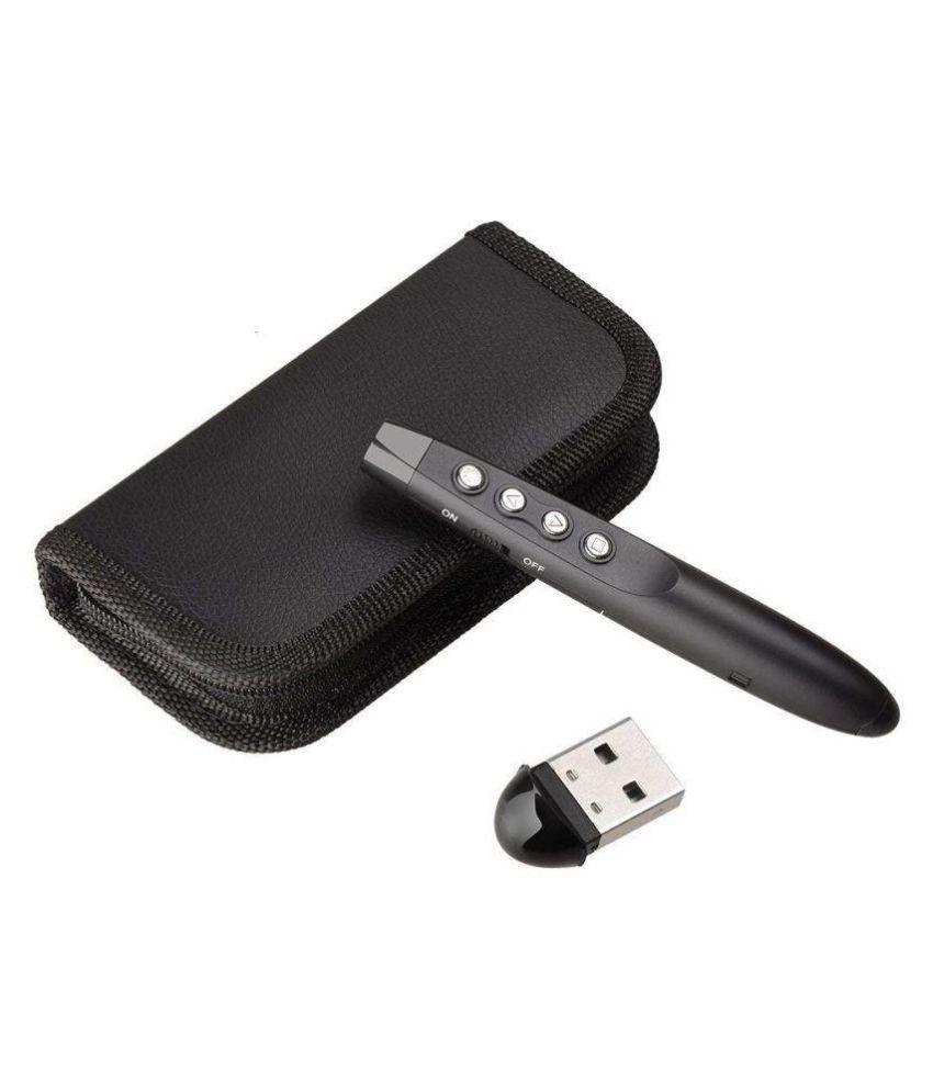 Techtest Wireless Usb Power Point Presenter Ppt Laser Pointer Pen Aa Presentasi Batteryblack Remote