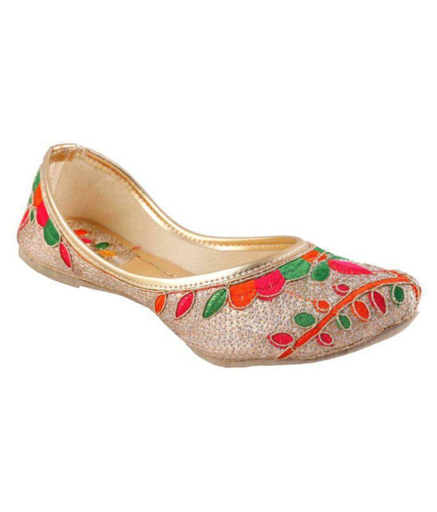 VINAYAK COLLECTION Gold Ethnic Footwear
