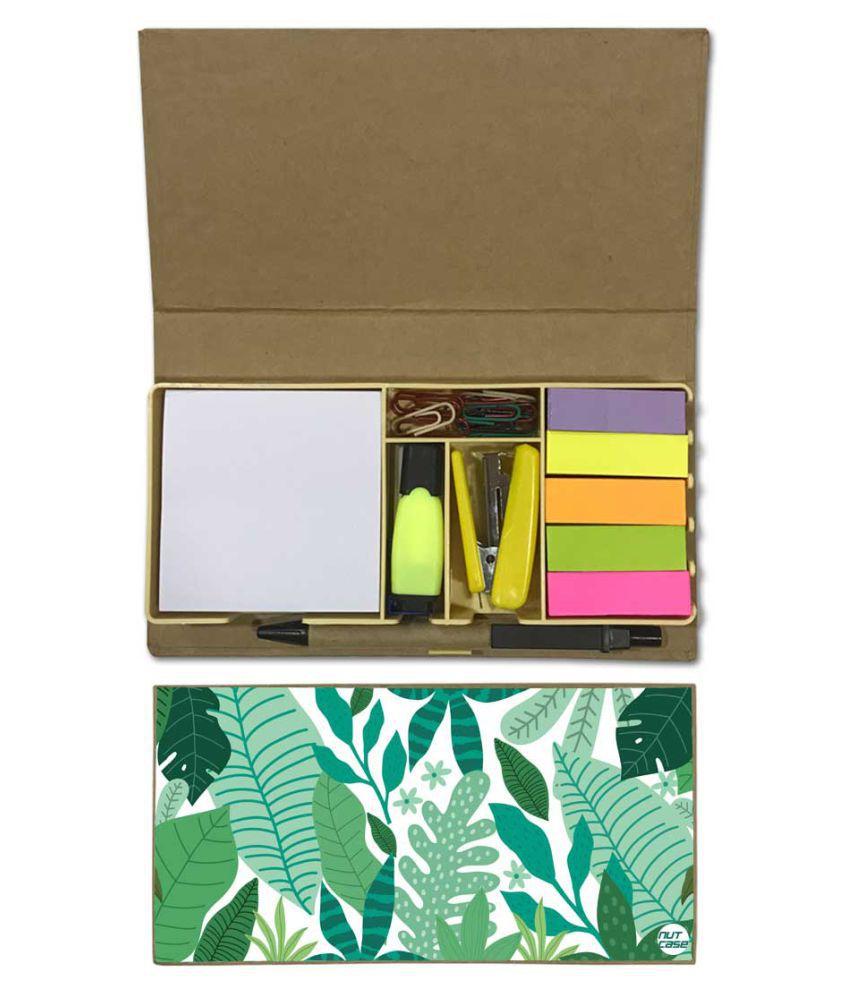 Nutcase Designer Stationary Kit Desk Customised Organizer Memo Notepad - Tropical Trending Vibes