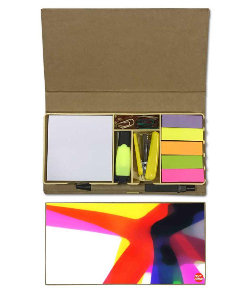 Nutcase Designer Stationary Kit Desk Customised Organizer Memo Notepad - Beautiful Colors