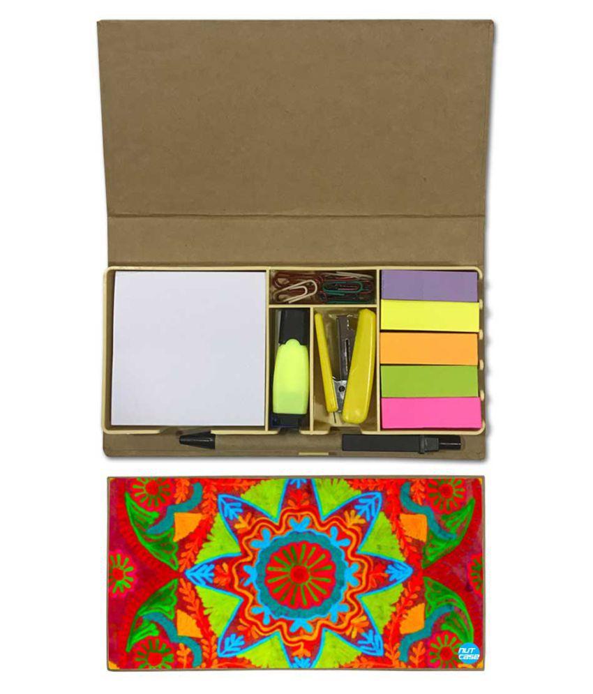 Nutcase Designer Stationary Kit Desk Customised Organizer Memo Notepad - Beautiful Star Design