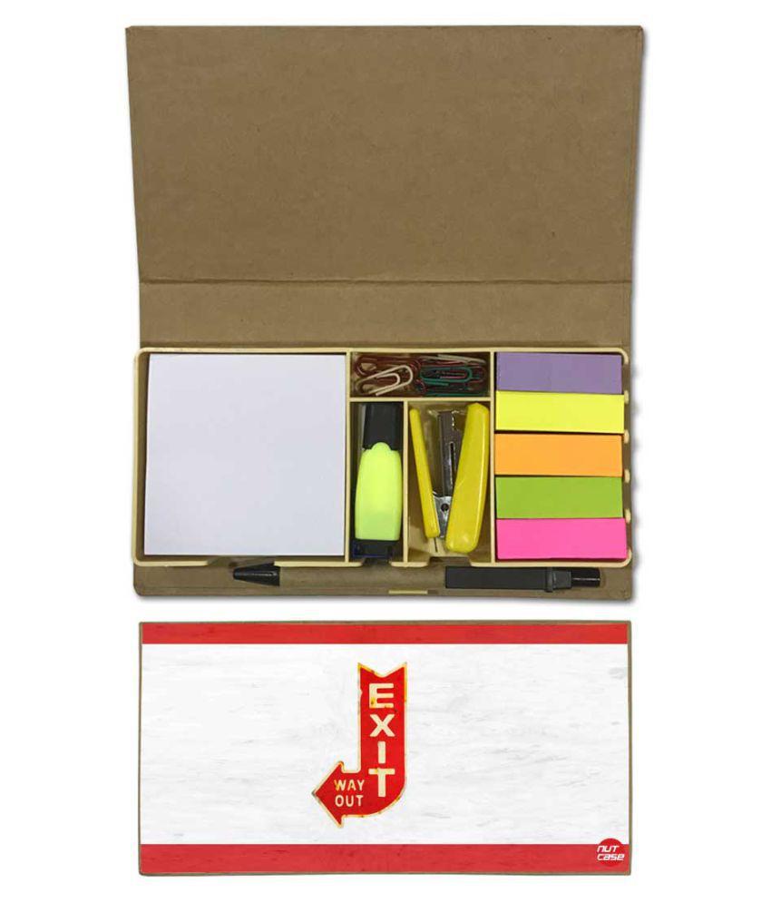 Nutcase Designer Stationary Kit Desk Customised Organizer Memo Notepad - Exit