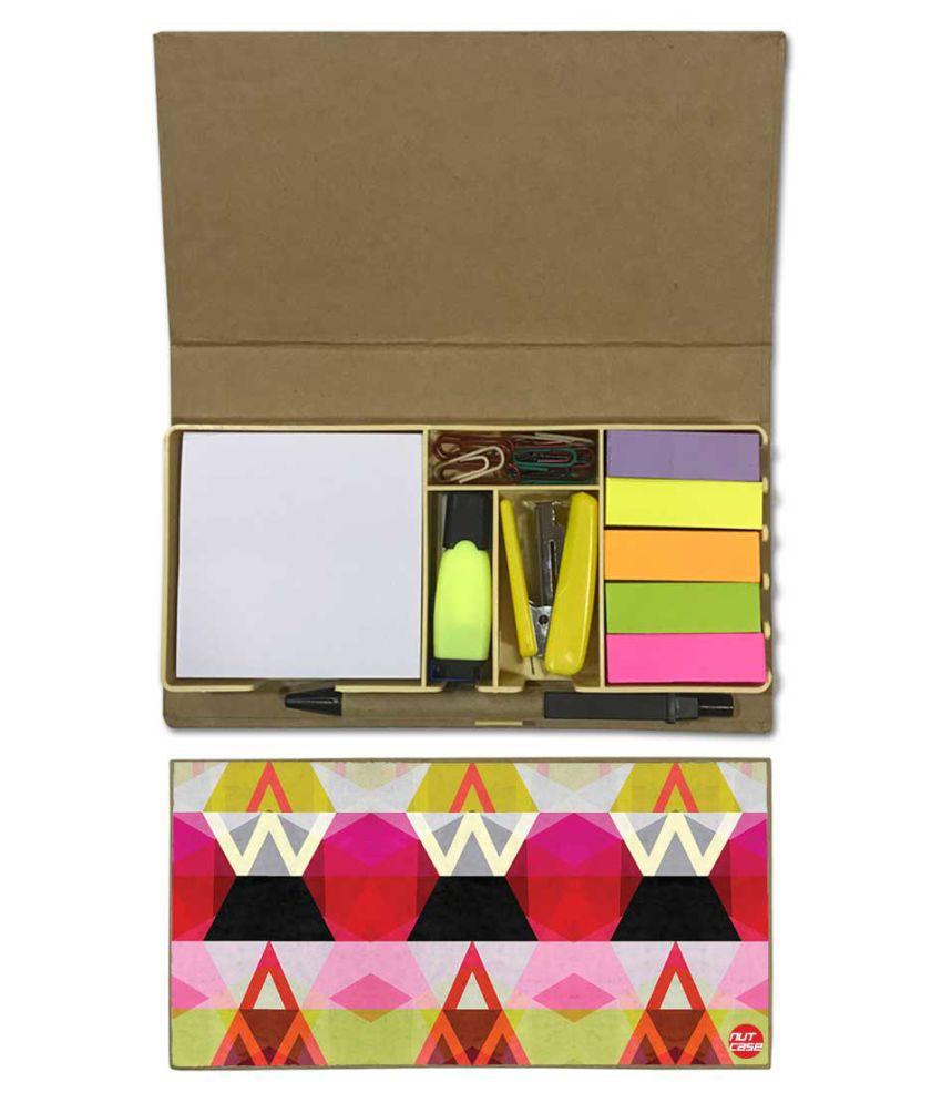 Nutcase Designer Stationary Kit Desk Customised Organizer Memo Notepad - beautiful Art