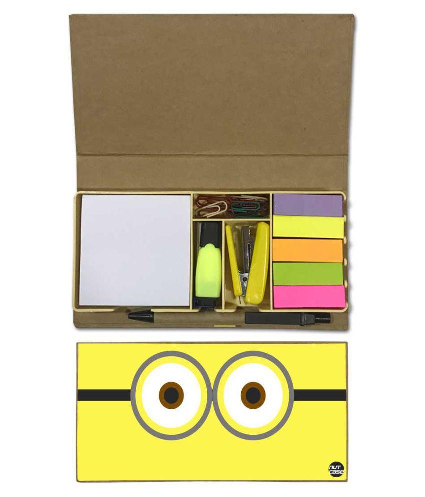 Nutcase Designer Stationary Kit Desk Customised Organizer Memo Notepad - Eyes