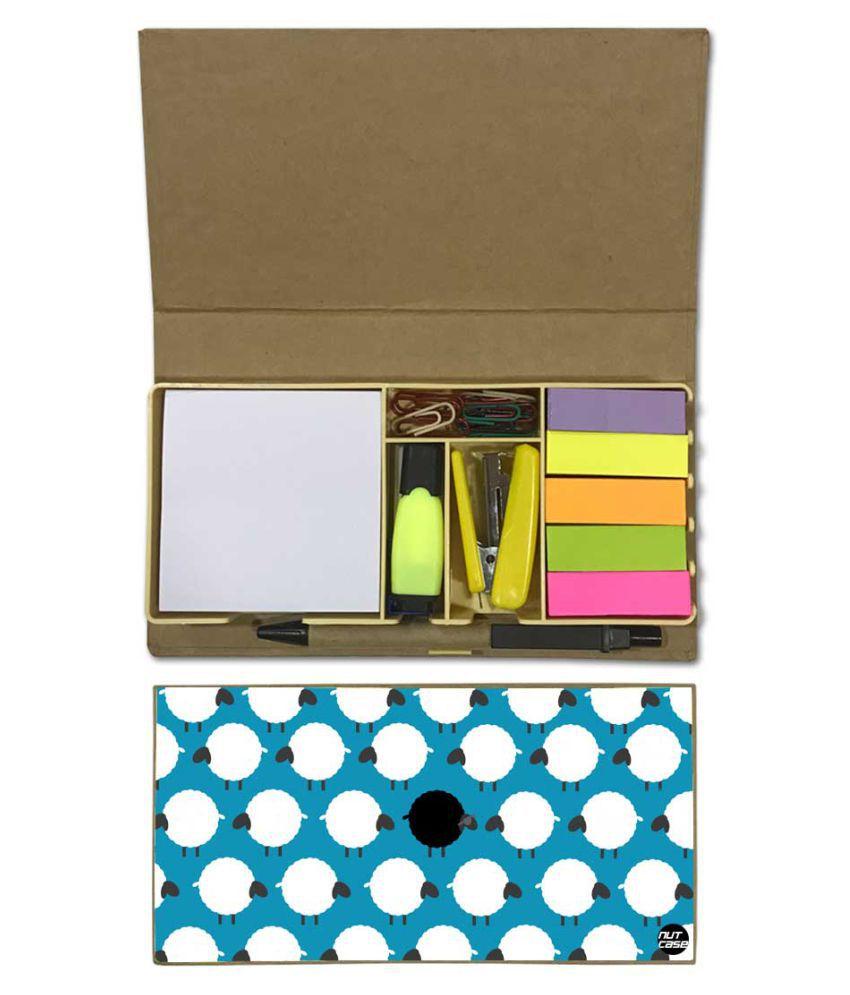 Nutcase Designer Stationary Kit Desk Customised Organizer Memo Notepad - Sheep