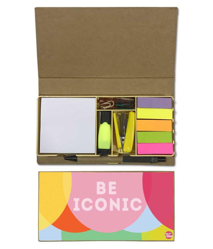 Nutcase Designer Stationary Kit Desk Customised Organizer Memo Notepad - Be Iconic