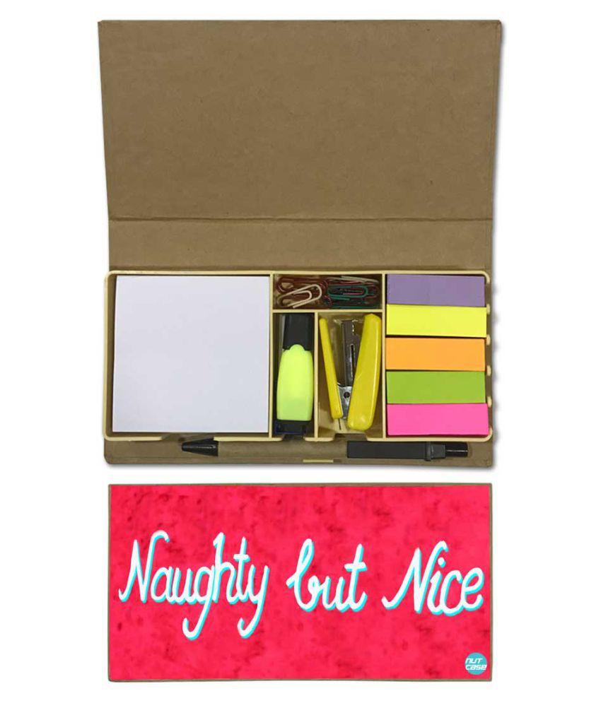 Nutcase Designer Stationary Kit Desk Customised Organizer Memo Notepad - Nice