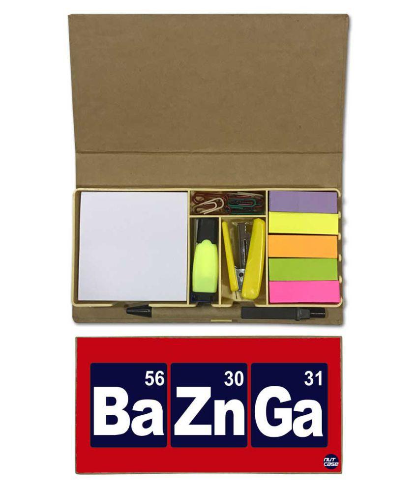 Nutcase Designer Stationary Kit Desk Customised Organizer Memo Notepad - Baznga