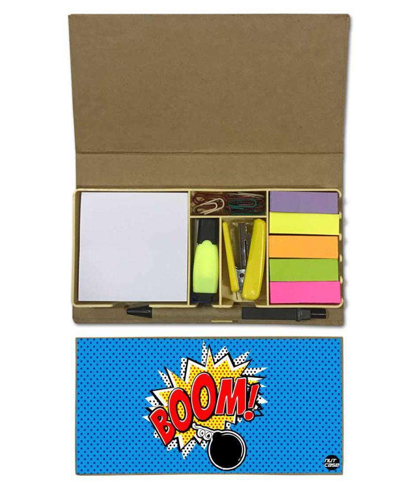 Nutcase Designer Stationary Kit Desk Customised Organizer Memo Notepad - Boom