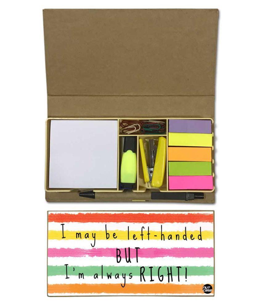 Nutcase Designer Stationary Kit Desk Customised Organizer Memo Notepad - I Am Always Right
