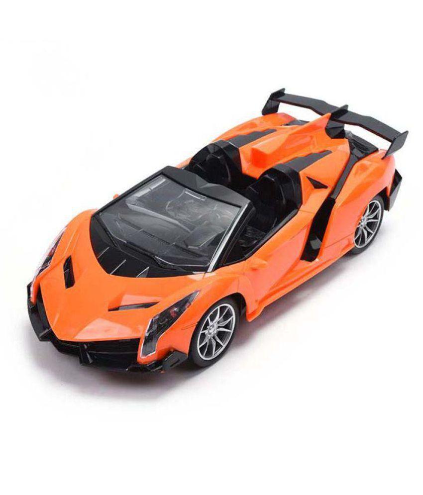 Remote Control Lamborghini Orange Colour Car With Charger And