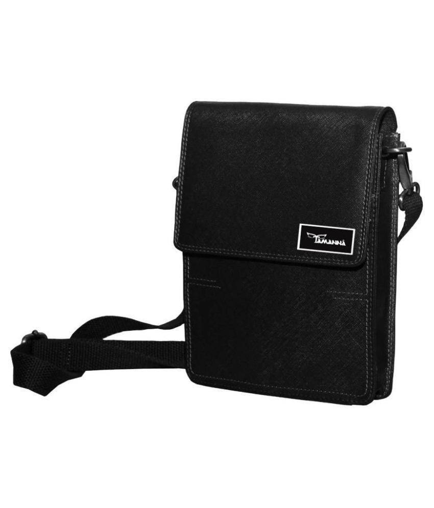 Tamanna LSBU17-TM_11 Black Leather Casual Messenger Bag