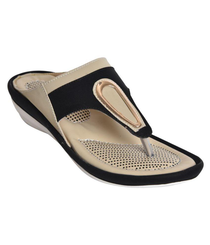 Alert India Black Wedges Heels