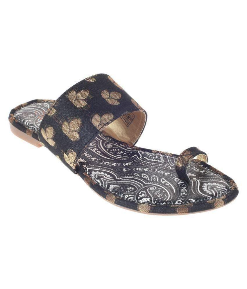 4ed3588e7 Khadim s Black Flats Price in India- Buy Khadim s Black Flats Online at  Snapdeal
