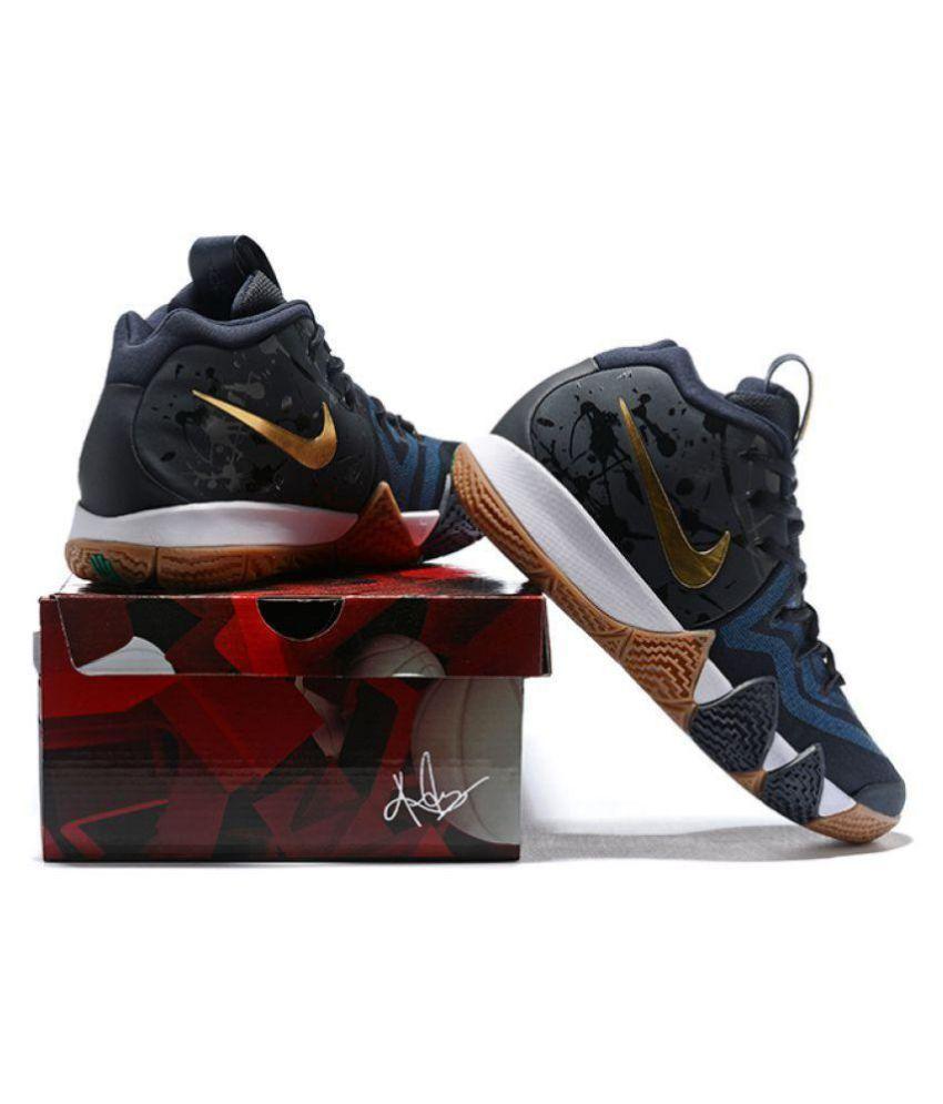 best service a3733 05c04 Nike Kyrie 4 Black Gum Black Basketball Shoes
