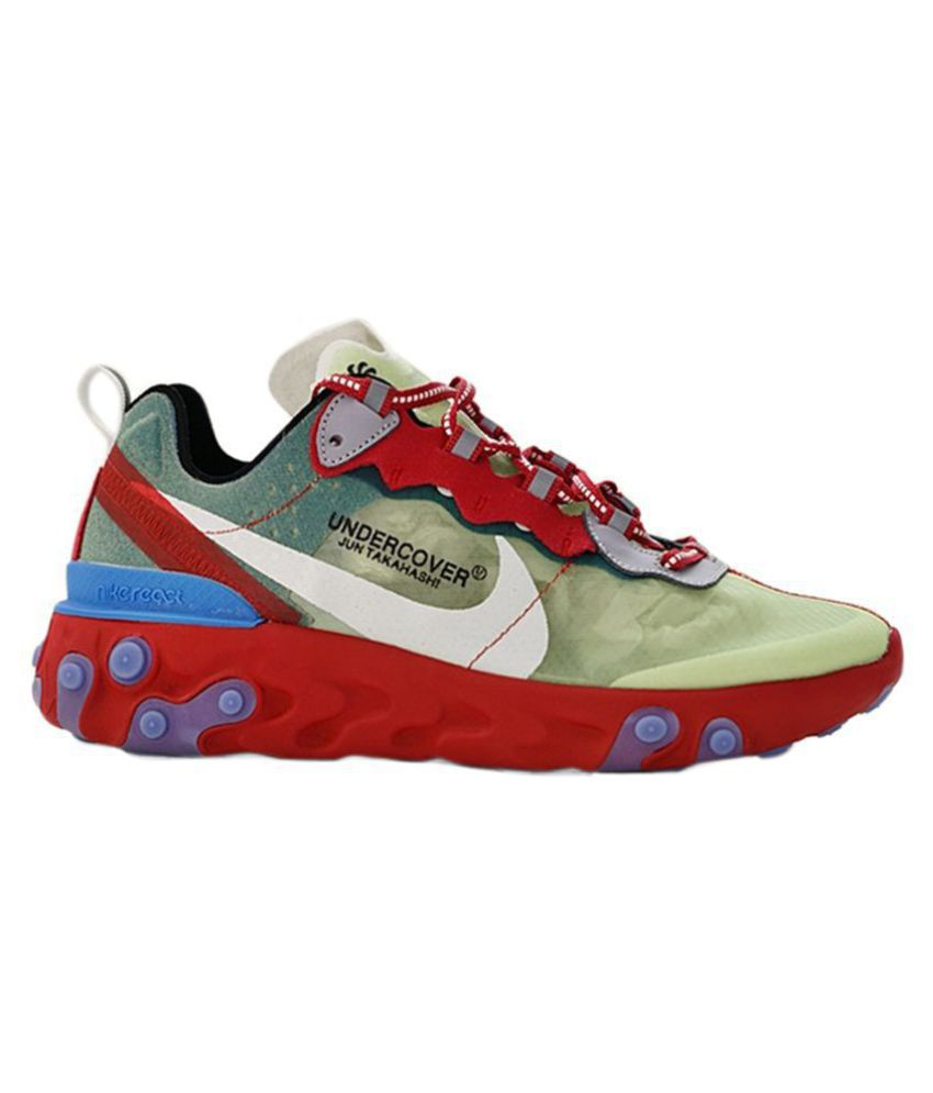 Nike Undercover X React Element 87 2019 Red Running Shoes - Buy Nike ... 8466be626