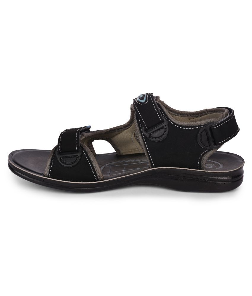 8b973fc01532 Action Shoes Black Synthetic Leather Sandals Price in India- Buy ...