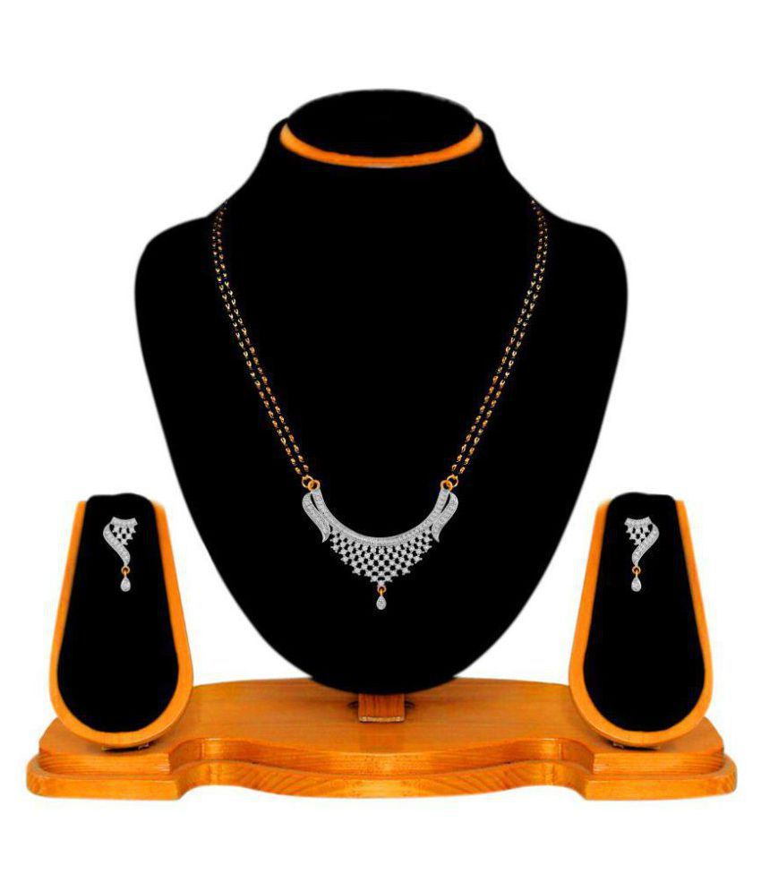 Navya Collections Silver Alloy Mangalsutra Set